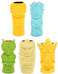 Rick and Morty Series 1 Ceramic Geeki Tiki Mugs | Set of 5