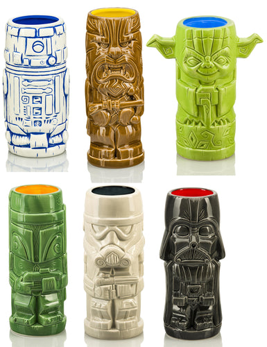 Star Wars Series 1 Ceramic Geeki Tiki Mugs | Set of 6