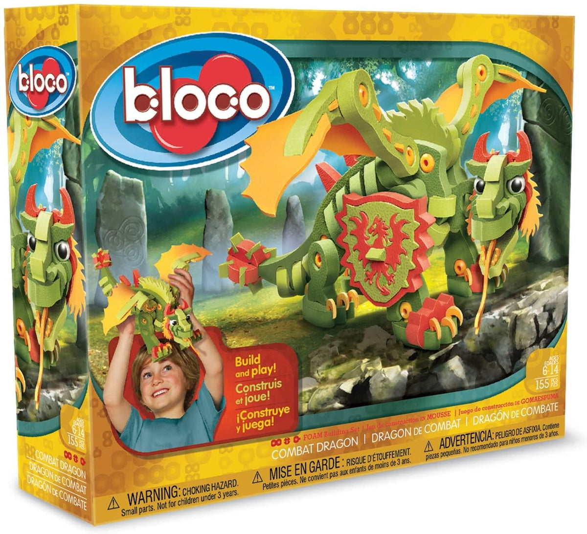 Bloco 155 Piece Construction Set | Combat Dragon