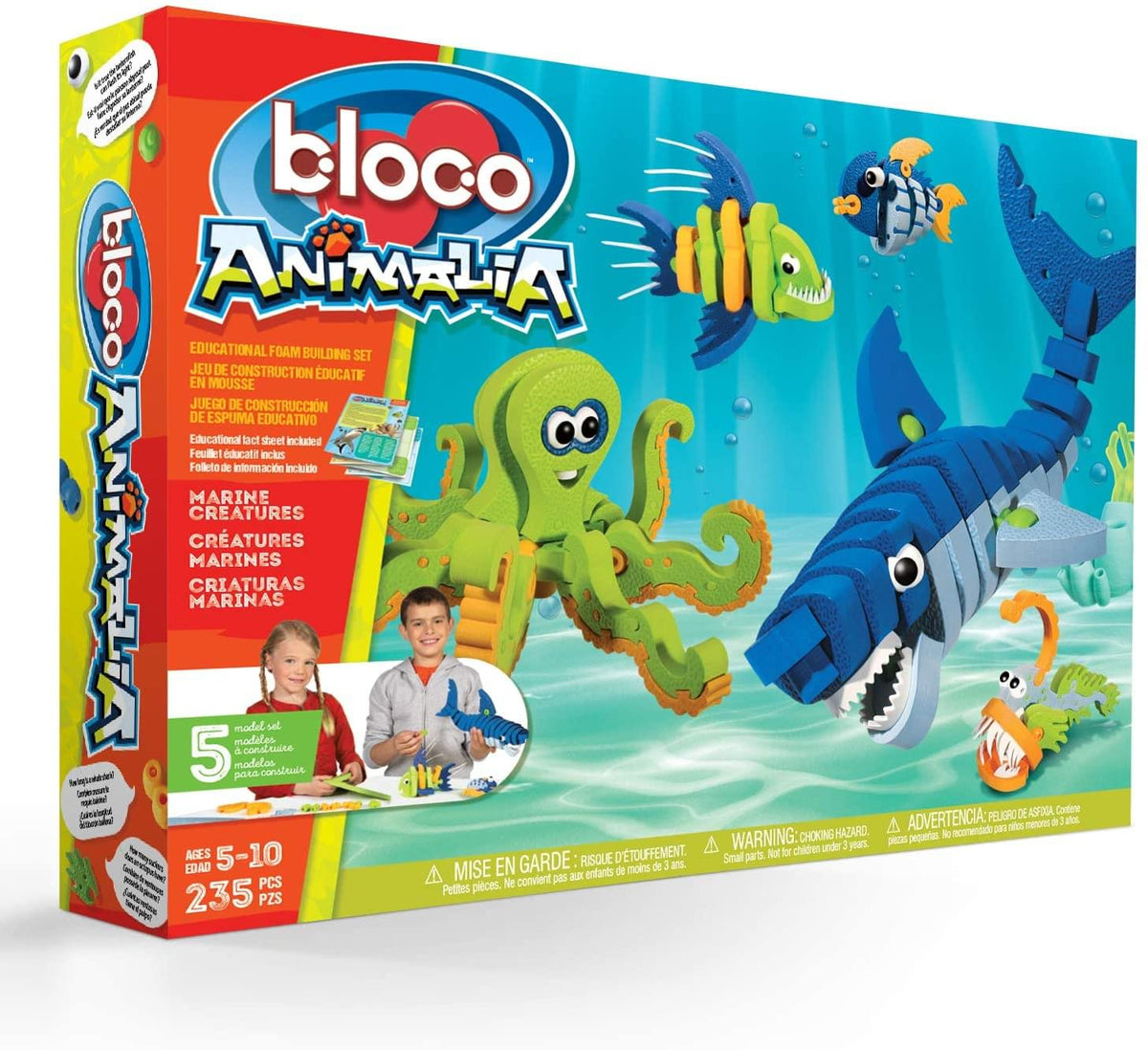 Bloco 235 Piece Construction Set | Marine Creatures