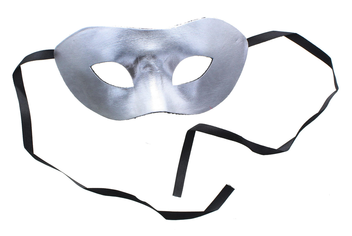 Eye Costume Mask Silver W/Felt Backing