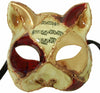 Italia Cat Costume Mask Red/Gold