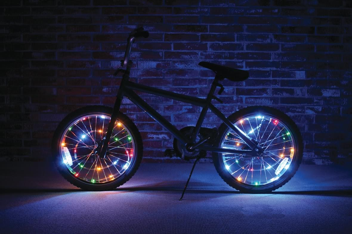 Wheel Brightz Lightweight Multicolored LED Bicycle Safety Light Accessory