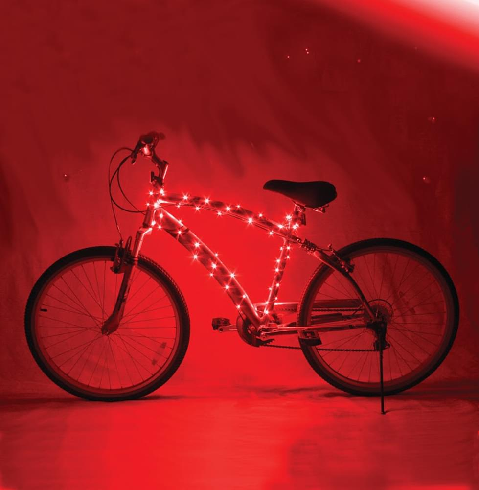 Cosmic Brightz Red LED Bicycle Light Accessory