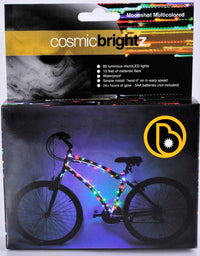 Cosmic Brightz Multicolored LED Bicycle Safety Light Accessory