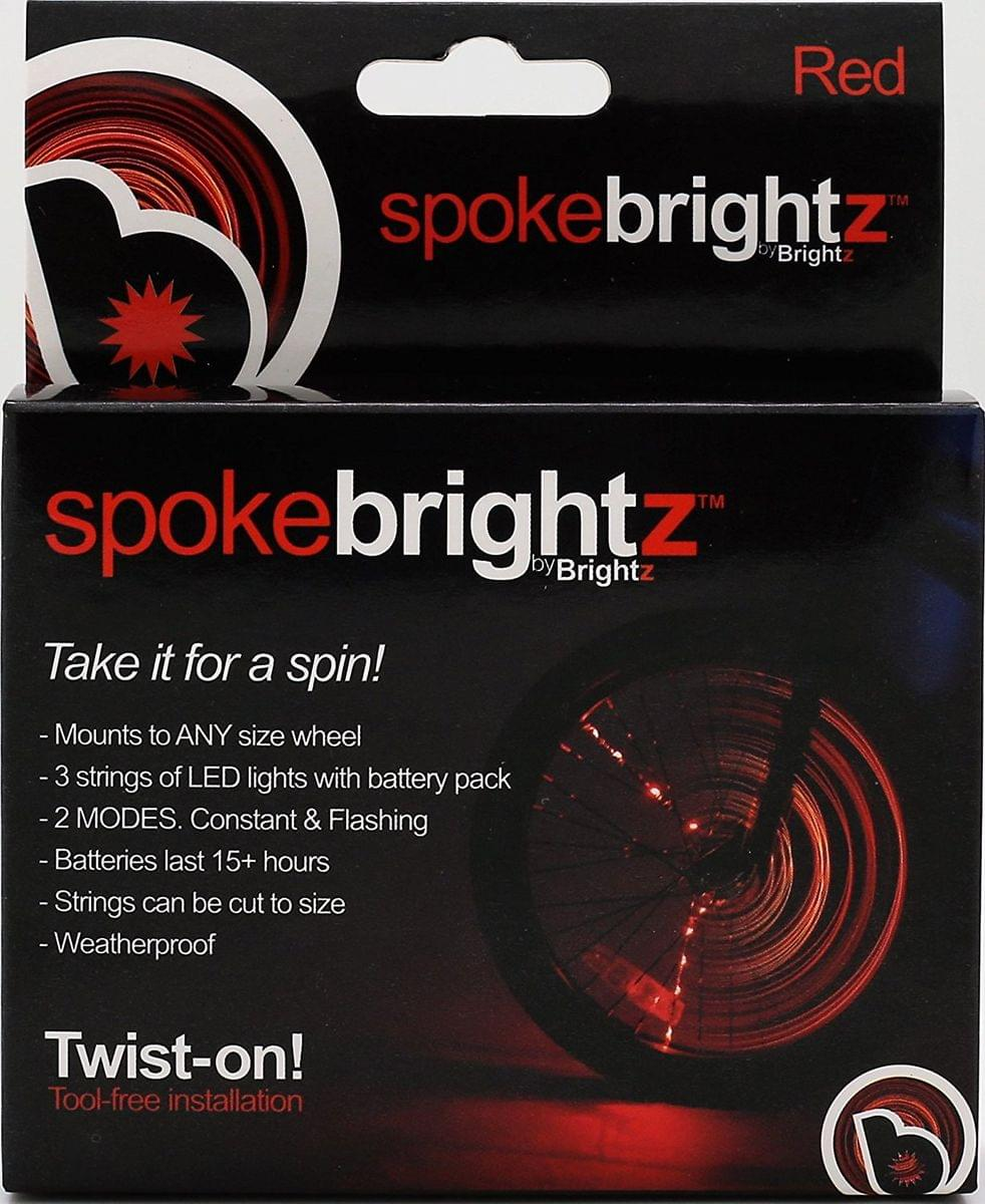 Spoke Brightz LED Bicycle Spoke Accessory, Red