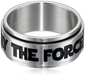 Star Wars May The Force Men's Spinner Ring