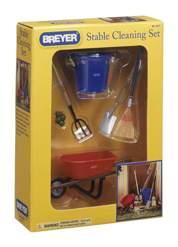 Breyer 1:9 Model Horse Accessory Set: Stable Cleaning Kit