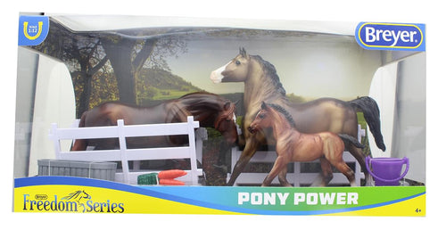 Breyer Classics 1/12 Model Horse Play Set - Pony Power