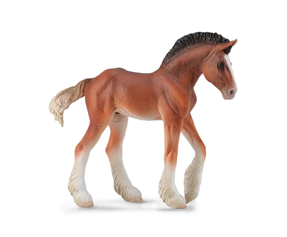 Breyer CollectA Series Bay Clydesdale Foal Model Horse