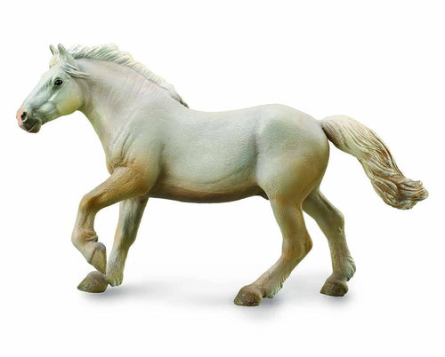 Breyer CollectA 1:18 Scale Model Horse | American Cream Draft Stallion