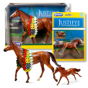 Breyer Justify Horse Model Set | Includes Traditional & Stablemates Models