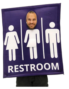 Transgender Bathroom Sign Adult Costume