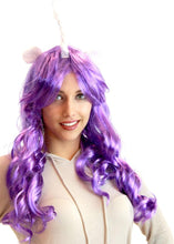 Load image into Gallery viewer, Deluxe Unicorn Costume Wig With Ears Adult: Purple/Generosity One Size Fits Most