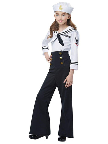 Navy/Sailor Girl Child Costume