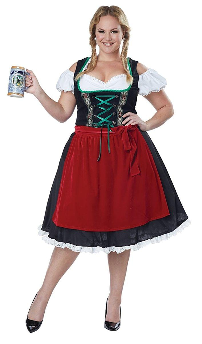 Oktoberfest Fraulein Adult Plus Costume: 2XL