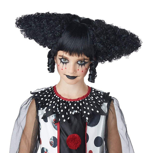 Creepy Clown Women's Costume Wig - Black