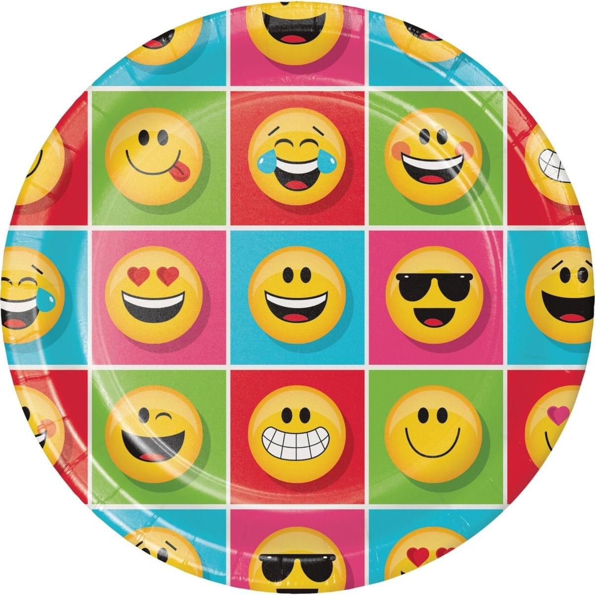 "Show Your Emojions 8.75"" Paper Dinner Plates: 8 Count"