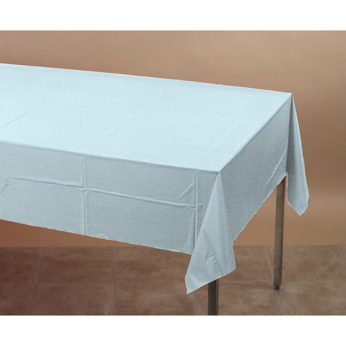 Touch Of Color Plastic Tablecover Pastel Blue