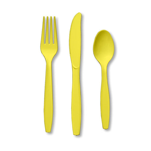 Touch Of Color Premium Cutlery Plastic Svc 8 24 Count Mimosa