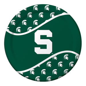8 Pack 8 3/4 Round Luncheon Plate Michigan State