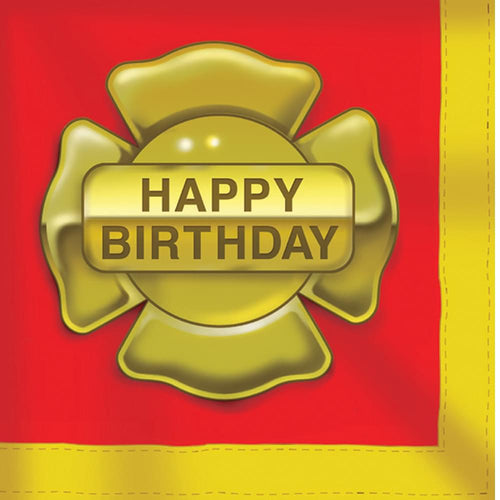 16 Pack Luncheon Napkins Firefighter