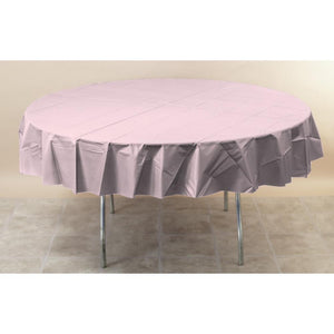 Touch Of Color Octy-Round Round Plastic Table Cover Classic Pink