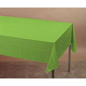 Touch Of Color Plastic Table Cover 54x108 Fresh Lime