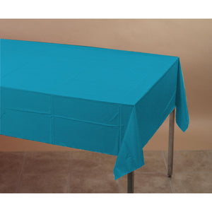 Touch Of Color Plastic Table Cover 54x108 Turquoise