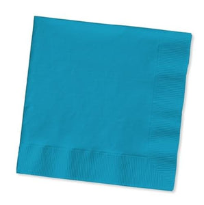 Touch Of Color 50 Count Beverage Napkins Turquoise