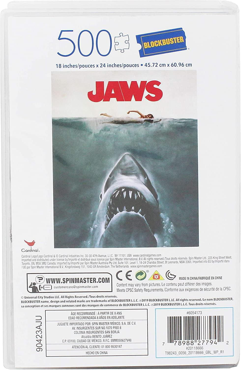 JAWS 500 Piece Jigsaw Puzzle in Plastic VHS Video Case