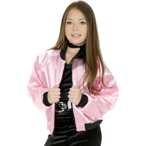 Pink Satin Ladies Jacket Child Costume