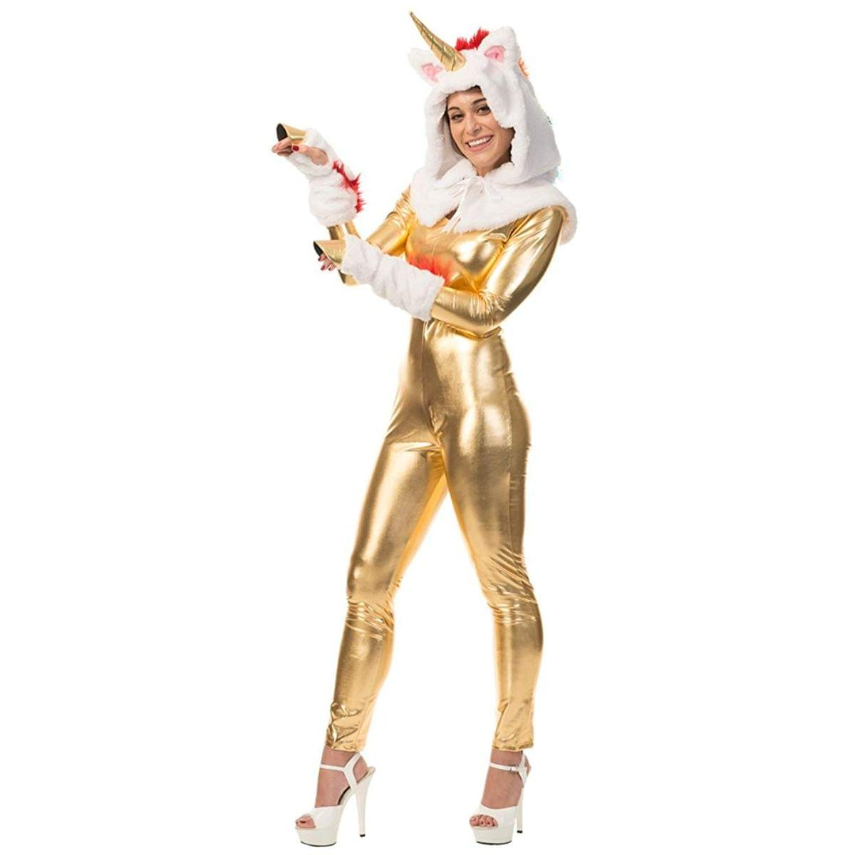 Unicorn Hood And Tail Adult Costume Kit, One Size