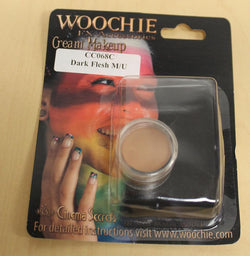 Dark Flesh Cream Costume Make Up 1/8 oz Carded