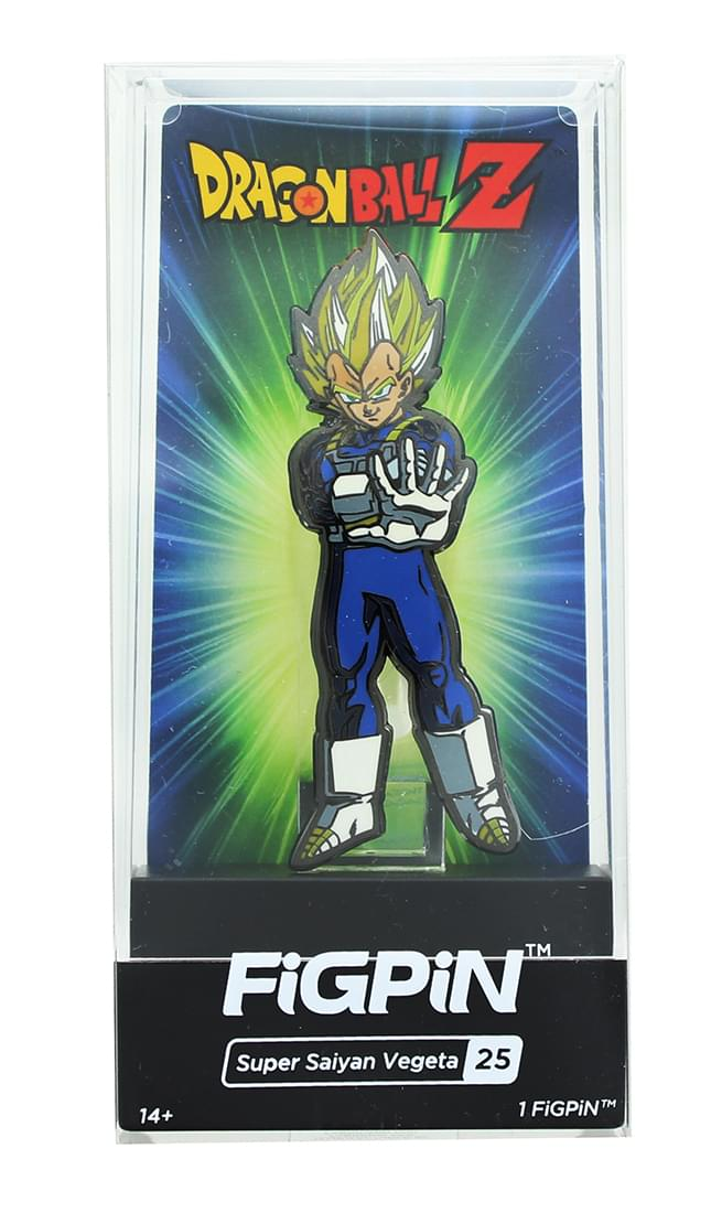 Dragon Ball Z 3 Inch Collectible Enamel Figpin Super Saiyan Vegeta