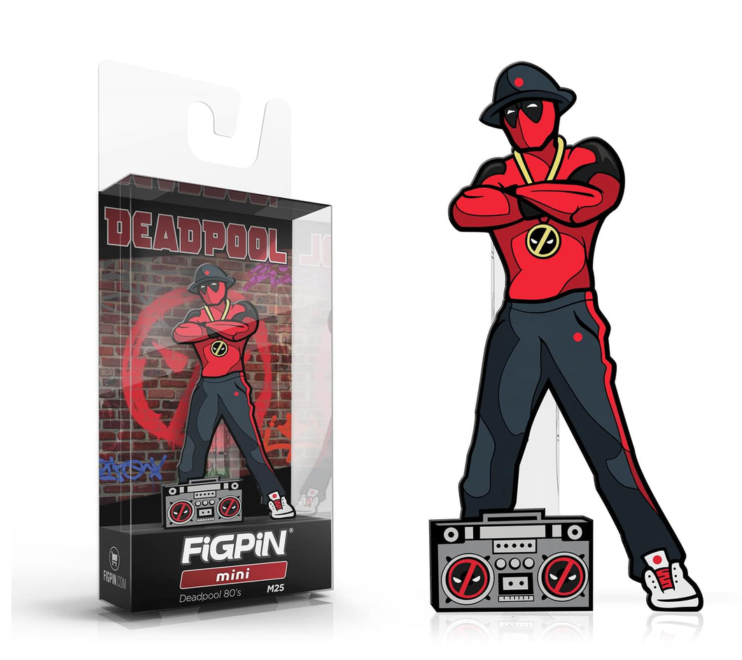 Marvel Enamel FiGPiN Mini | 80s Deadpool #M25
