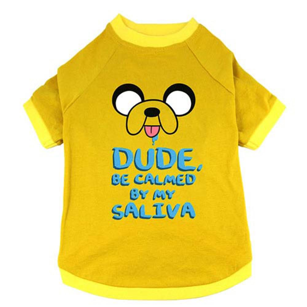 "Adventure Time ""Jake Saliva"" Pet T-Shirt: Large"