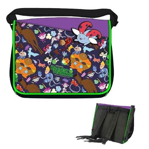 "Bravest Warriors 16x13"" Convertible Backpack Messenger Bag"