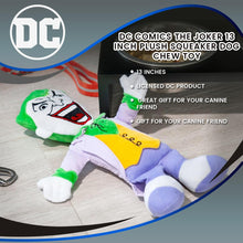 Load image into Gallery viewer, DC Comics The Joker 13 Inch Plush Squeaker Dog Chew Toy