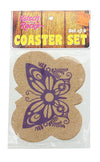 Kitsch on the Rocks Retro Cork Coaster Set - Super Fly - Set of 4