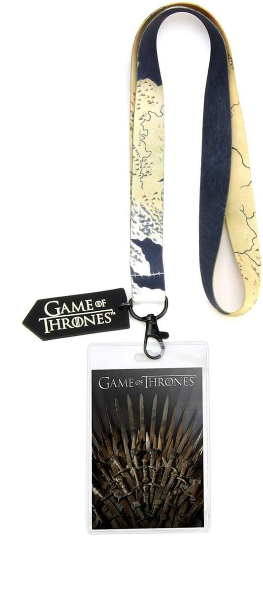 Game of Thrones Iron Throne Lanyard w/ PVC Charm