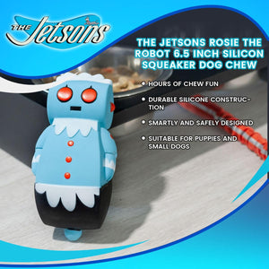 The Jetsons Rosie the Robot 6.5 Inch Silicon Squeaker Dog Chew Toy