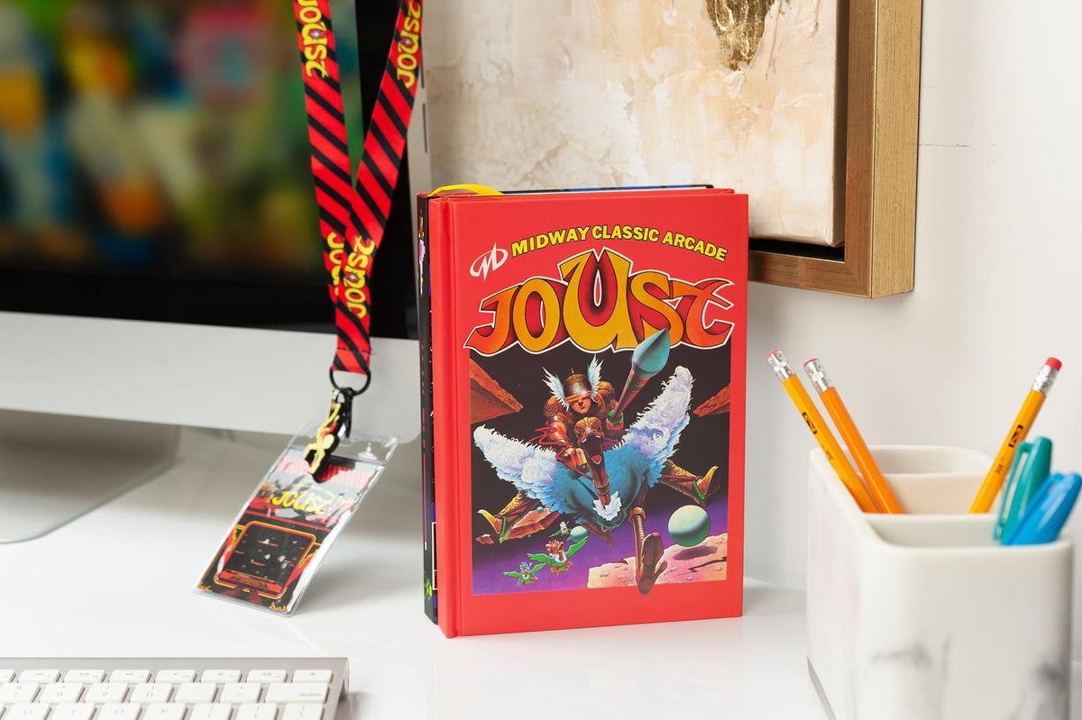 Midway Arcade Games Joust Hard Cover Ruled Journal With Ribbon Bookmark