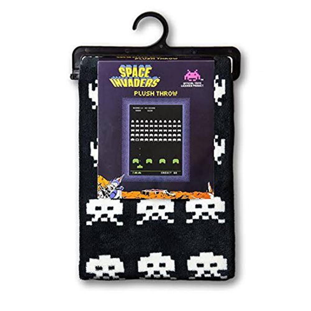 Space Invaders Plush Lightweight Throw Blanket | 60 x 45 Inches