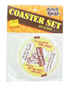 Kitsch on the Rocks Retro Cork Coaster Set - Pick Up Chicks - Set of 4
