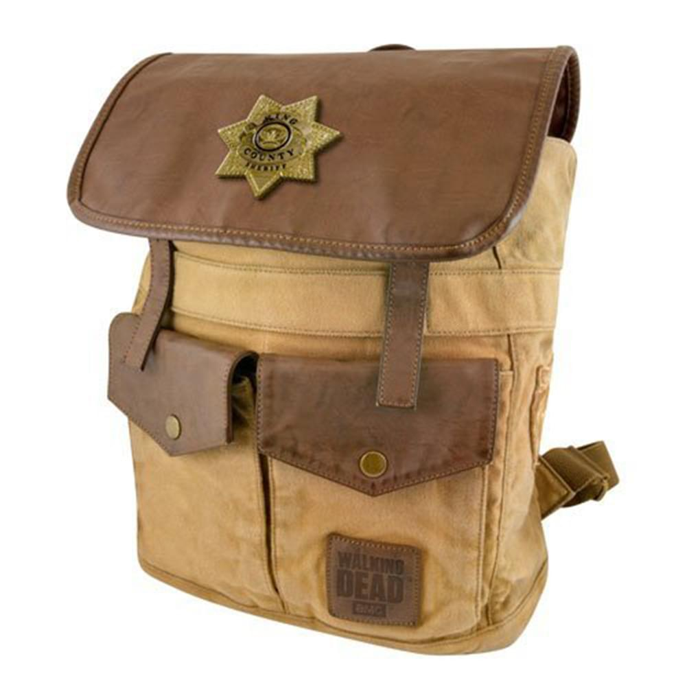 The Walking Dead Sheriff Rick Grime's Brown Backpack