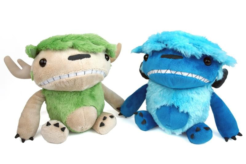 "Imps And Monsters Angus & Edie 6"" Backpack Clip-On Plush 2-Pack Set"