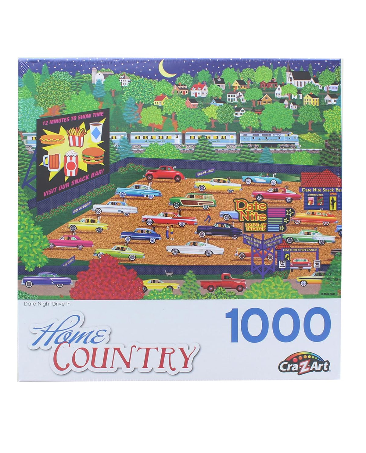 Date Night Drive In 1000 Piece Jigsaw Puzzle