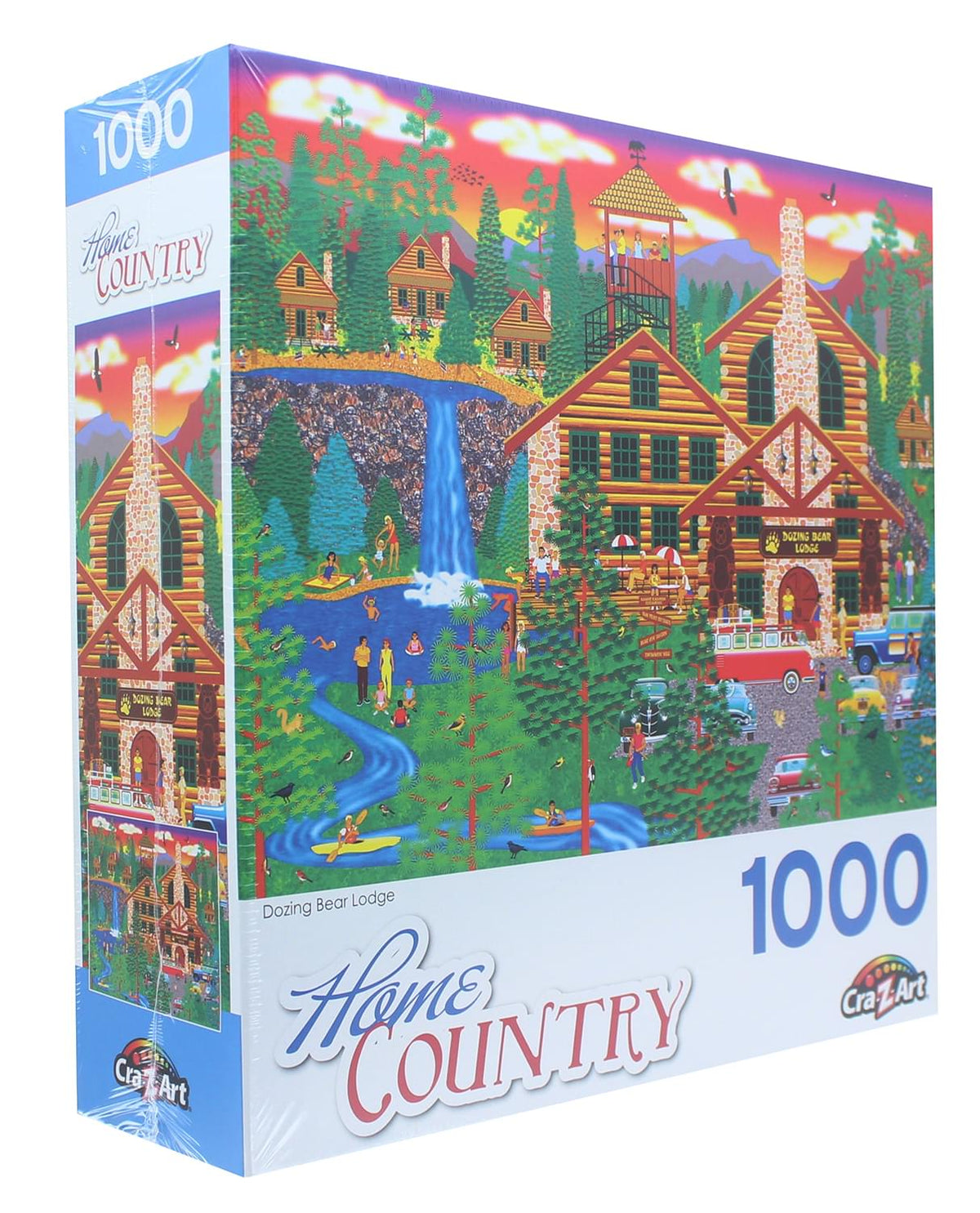 Dozing Bear Lodge 1000 Piece Jigsaw Puzzle