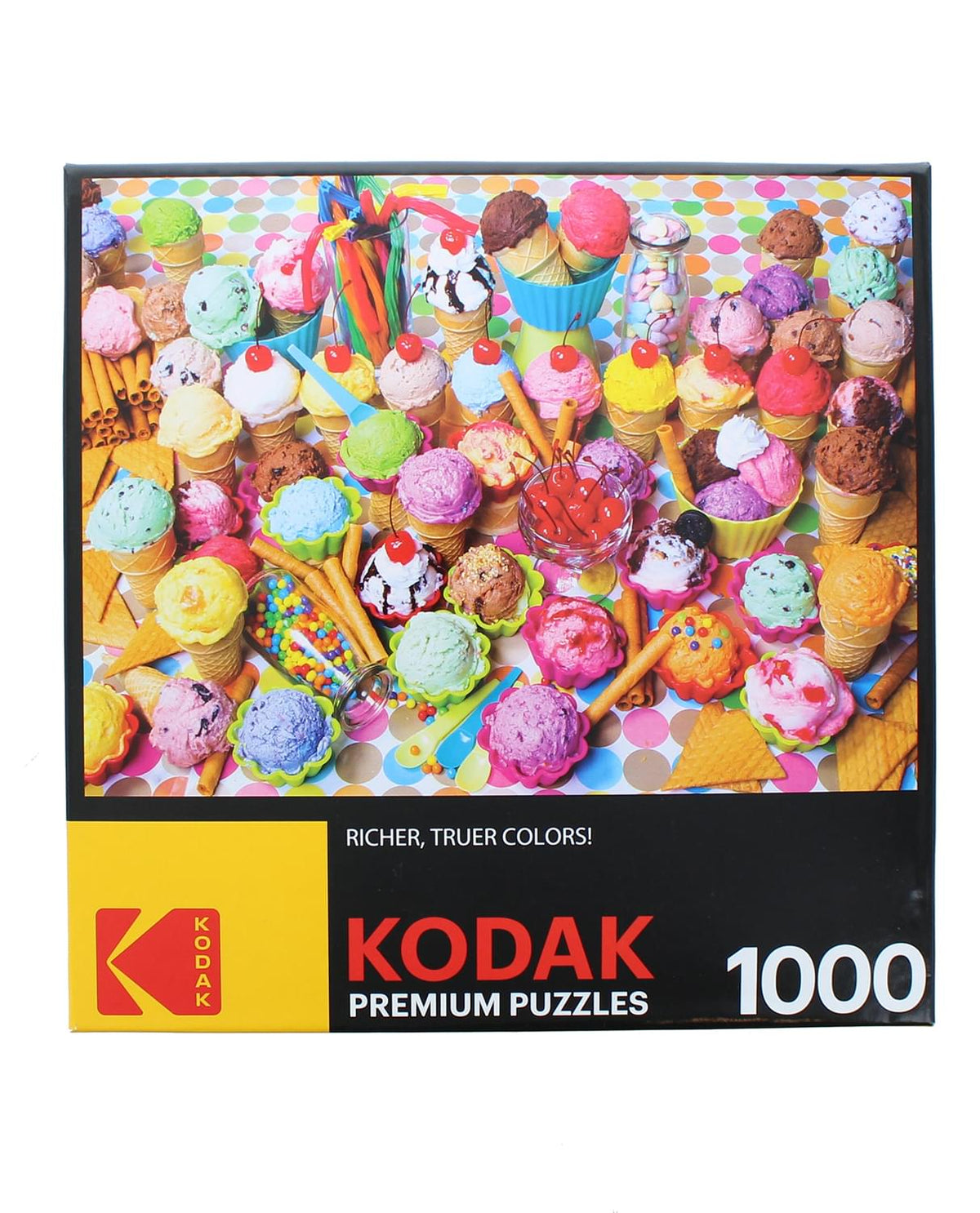 Variety of Colorful Ice Cream 1000 Piece Jigsaw Puzzle